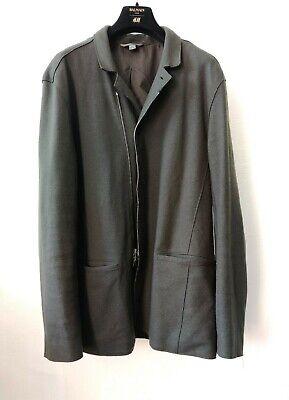 John Varvatos Deconstructed Dark Olive Green Jacket Size Large