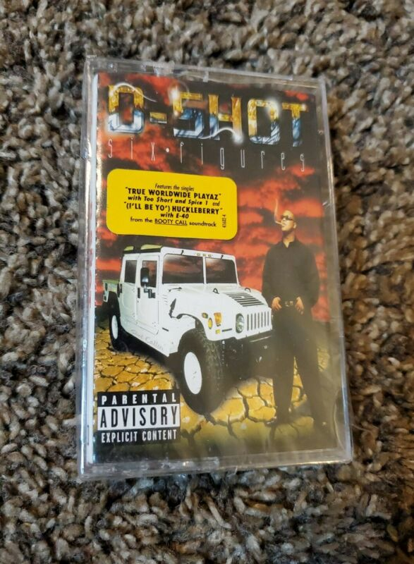 D-Shot - Six Figures- Original 1997 Cassette Tape Sealed