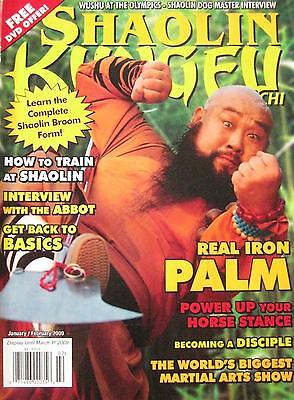 1/09 SHAOLIN KUNG FU TAI CHI MAGAZINE IRON PALM BLACK BELT KARATE MARTIAL ARTS