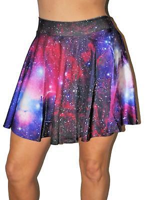Comic Cosmic Galary wide skater mini skirt O/S Halloween costume party skirt new - Skater Skirt Halloween