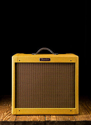 "Fender Blues Junior - 15 Watt 1x12"" Combo - Lacquered Tweed - Free Shipping"