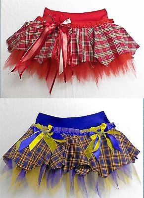 PLUS SIZE SCOTTISH TARTAN TUTU SKIRT DANCE COSTUME GOTH PUNK EMO PARTY RAVE ()