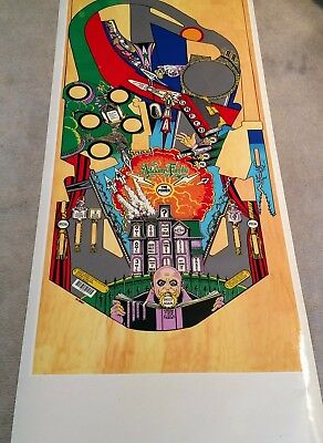 Bally ADDAMS FAMILY pinball machine Playfield overlay SOUTH AMERICA ONLY