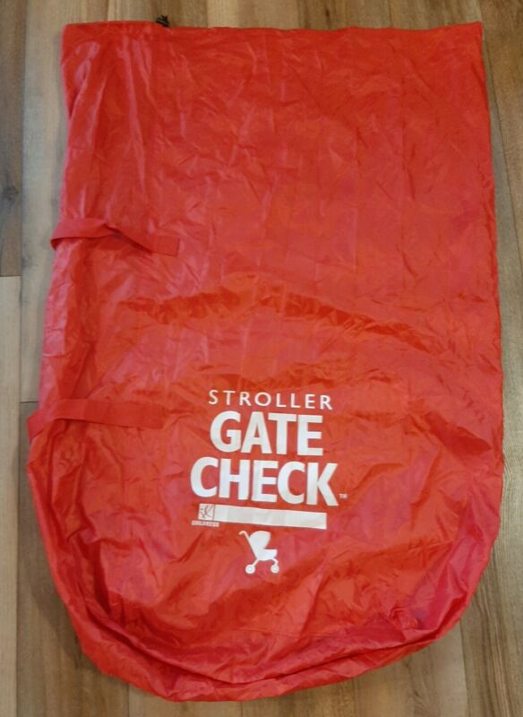 Stroller Gate Check Airplane Travel Bag Red Single and Double J.L.Childress