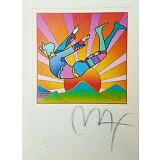 Peter max signed lithograph