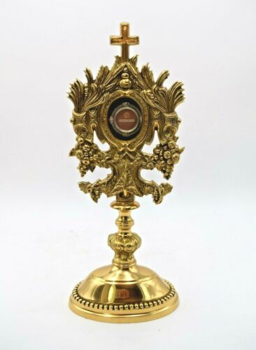 + Nice Ornate Reliquary with 1st Class Relic of St. Anthony of Padua + (CU208)