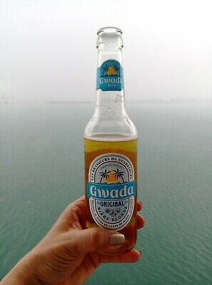 GWADA Gouadeloupe Bierflaschenetikett Etikett Bier 2-tlg. Karibik Caribbean; K1