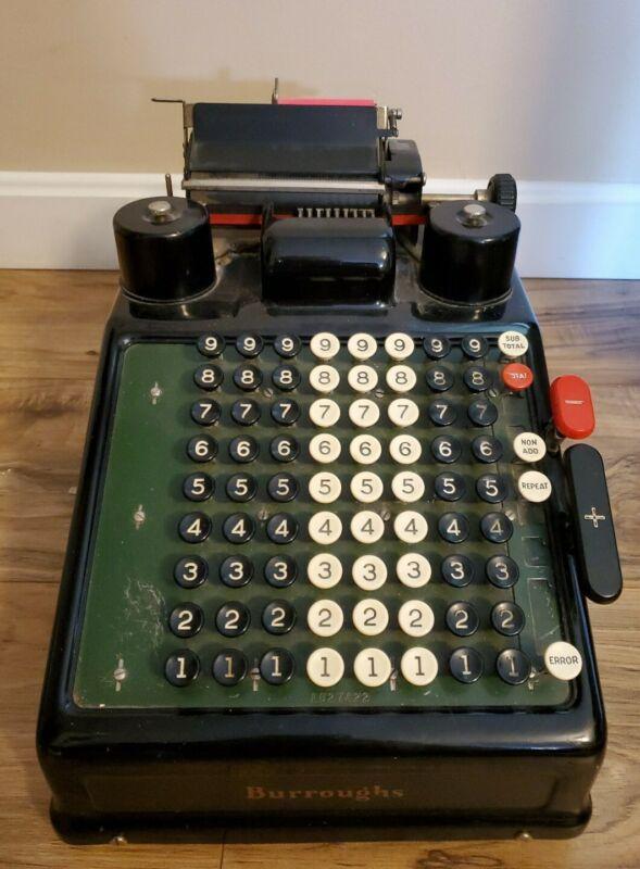 Vintage Burroughs Direct Alternating Power Portable Adding Machine Type 3 Works