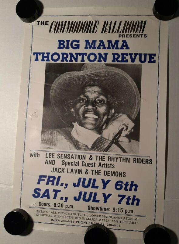 "BIG MAMA THORNTON REVUE Original Concert Advertising Poster 11""×17"" Vancouver"