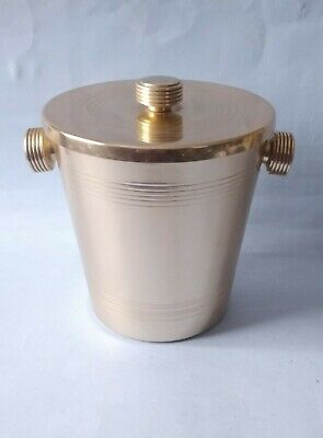 1950s ART DECO STYLE KAYMET ANODISDED ALUMINIUM ICE BUCKET - GOLD TONED