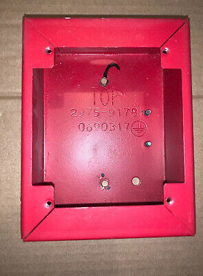 Vintage Simplex 2975-9178 Red Pull Station Back Box