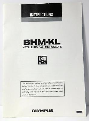 Olympus Bhm-kl Metallurigical Microscope Lbm Series Instructions