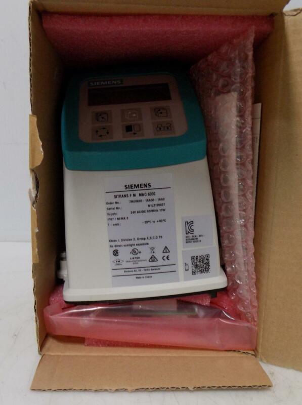 SIEMENS SITRANS F M  MAG 6000 TRANSMITTER FLOW METER 7ME6920-1AA30-1AA0 NIB