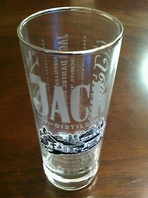 "Jack Daniels Old No.7 Sour Mash 6"" High Ball Whiskey Glass with Silver Rim  for sale  San Antonio"