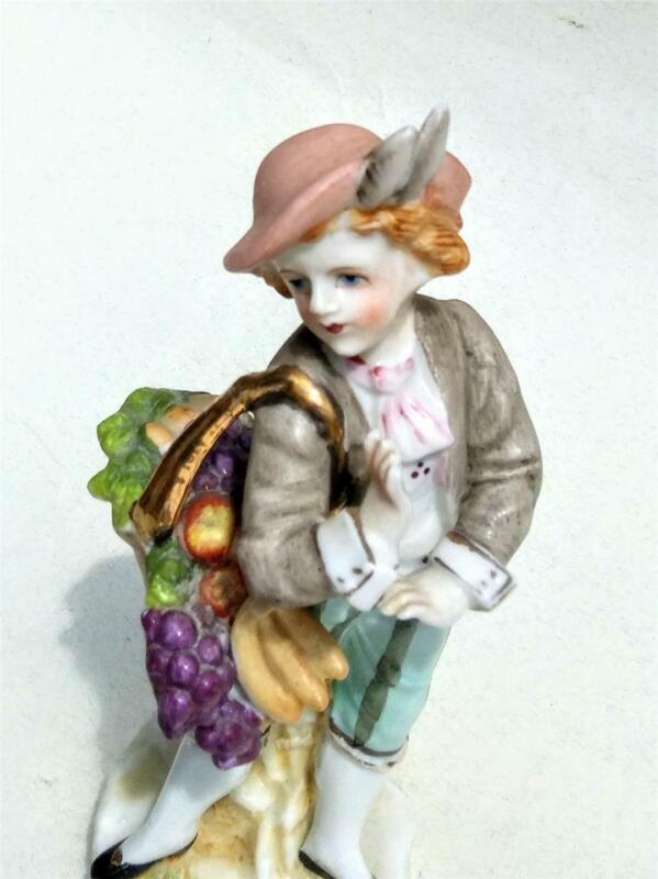 Vintage Porcelain Figurine C N circle mark Camille Naudot?