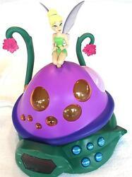 RARE Disney TINKER BELL Alarm Clock AM/FM Radio Peter Pan