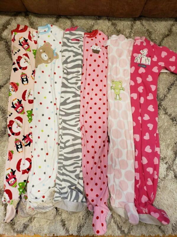 Girls Footsie Pajamas Carters Gap Size 4t lot of fleece night sleepers