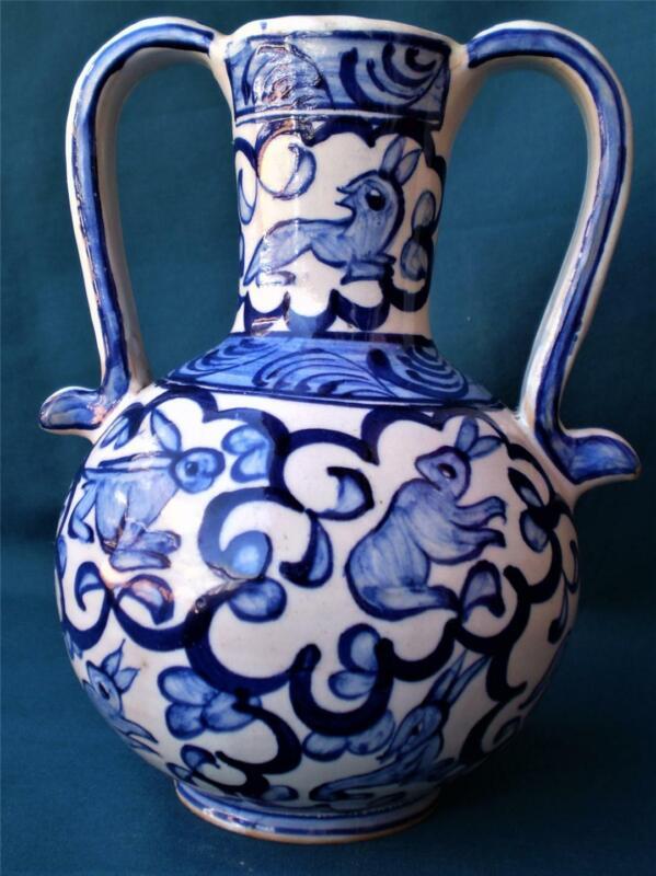 Signed Ikaros Icaros Rhodes Greece Greek Ceramic Art,Mid Century Vase B.15 hares