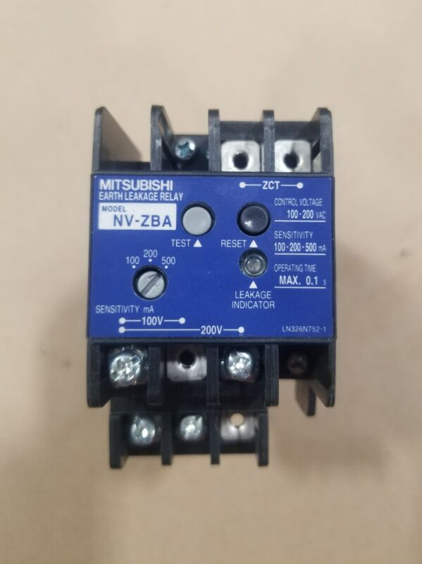 Mitsubishi NV-ZBA Circuit Breaker Earth leakage Relay #008B12