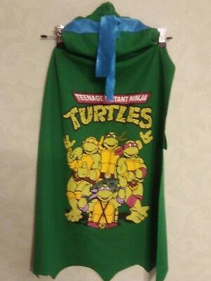 Teenage Mutant Ninja Turtles Cape Kids Cosplay Costume w/Hood Blue Mask ()