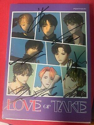 PENTAGON - LOVE or TAKE  Autograph ALL MEMBER Signed PROMO ALBUM KPOP signature