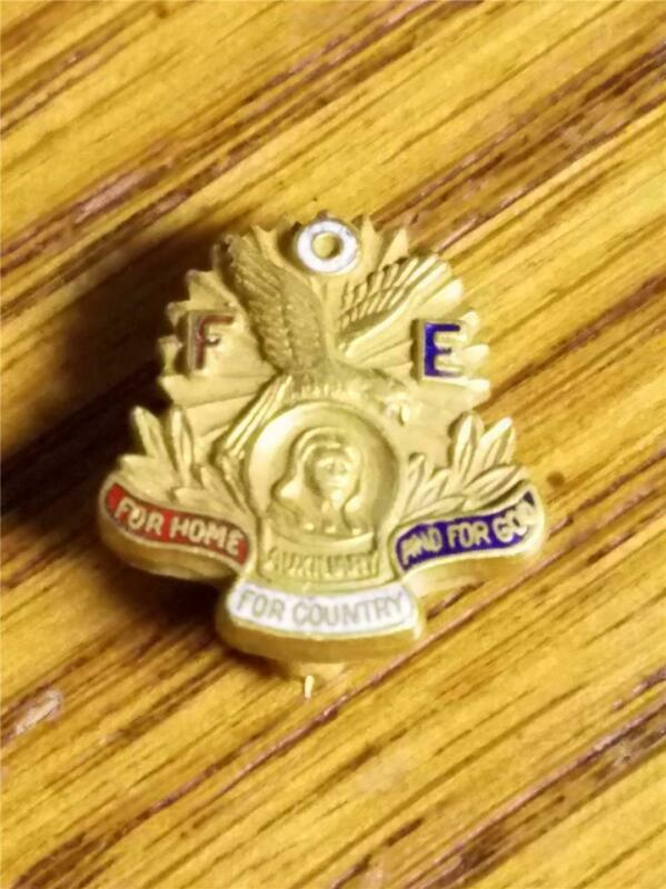 Vintage F.O.E. For Home God Country Pin  FREE SHIPPING