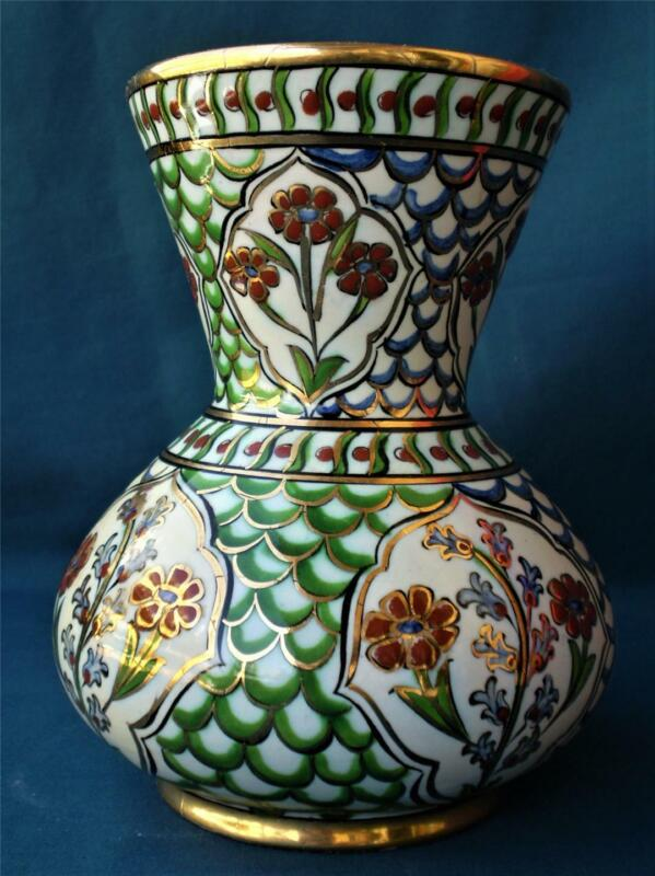 Signed Ikaros Icaros Rhodes Greece Greek Ceramic Art,Mid Cent. Vase B.370 floral