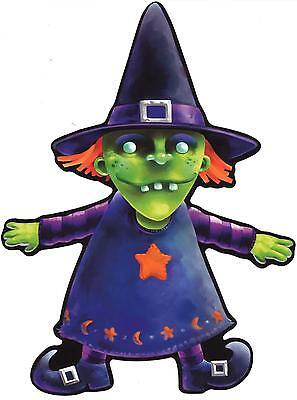 aufkleber sticker halloween auto motorrad deko macbook hexe  grun feier kind - Halloween Hexe Kind