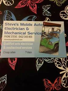 STEVES MOBILE AUTO ELECTRICIAN AND MECHANICAL REPAIRS Smithfield Playford Area Preview