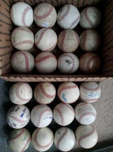 Lot  24 Used Rawlings Official League Baseballs  Hard balls