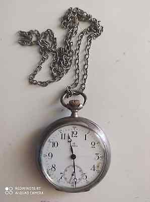 antique pocket watch Omega grand prix Paris 1900 0,800 silver