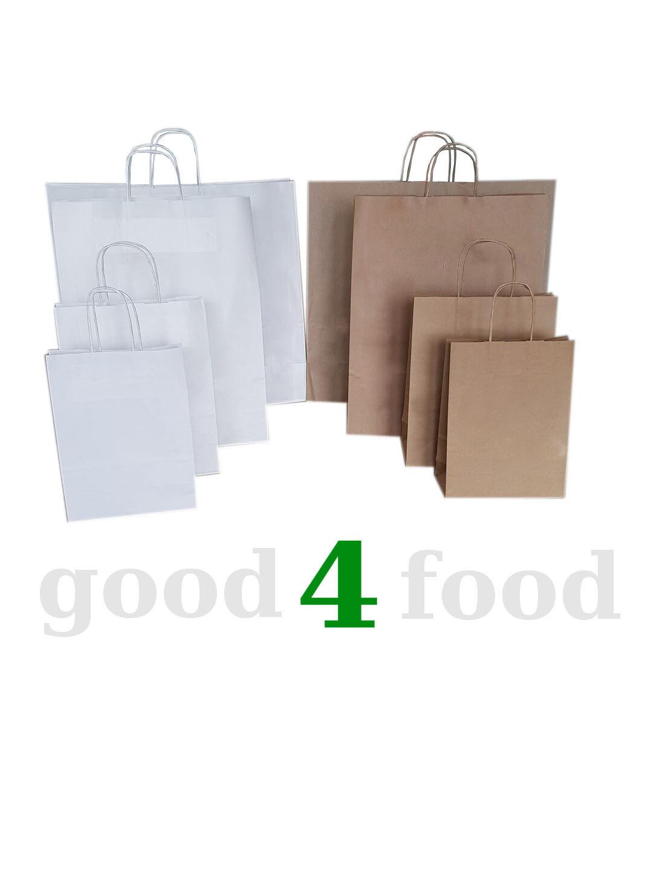 Papiertragetaschen Kordelgriff Papiertüten Tragetaschen Papiertaschen NEU