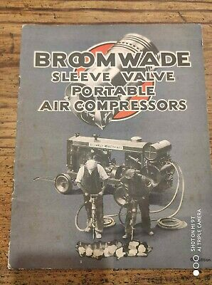 Rare And Vintage Catalog Broom Wade Sleeve Valve Portable Air Compressors