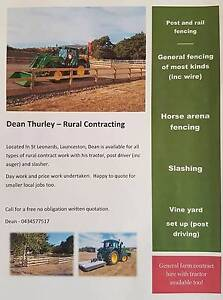 Dean Thurley Rural Contracting St Leonards Launceston Area Preview