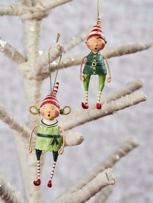Lori Mitchell™ - Tootsie & Tinker Ornaments - Christmas Elves Kids Elf - 11116