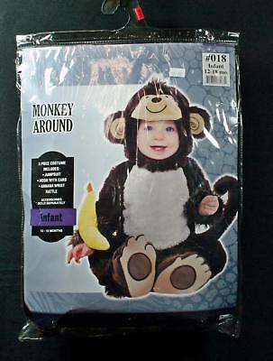 Monkey Banana Kostüm (Singe Costumes USA 3-Pc Monkey With Banana Halloween Costume 12/18mo.)