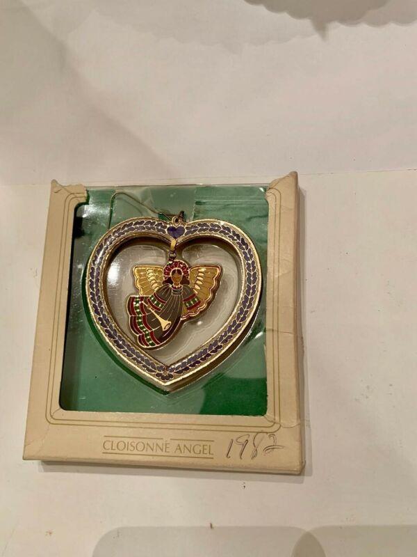 Hallmark Angel Ornament Christmas Tree Cloisonne  Keepsake New Vintage 1982