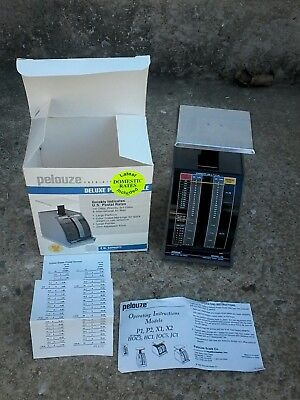 New In Box Pelouze Postal Scale Model X2 Capacity 2lb X 12 Oz Jan. 1995 Rates