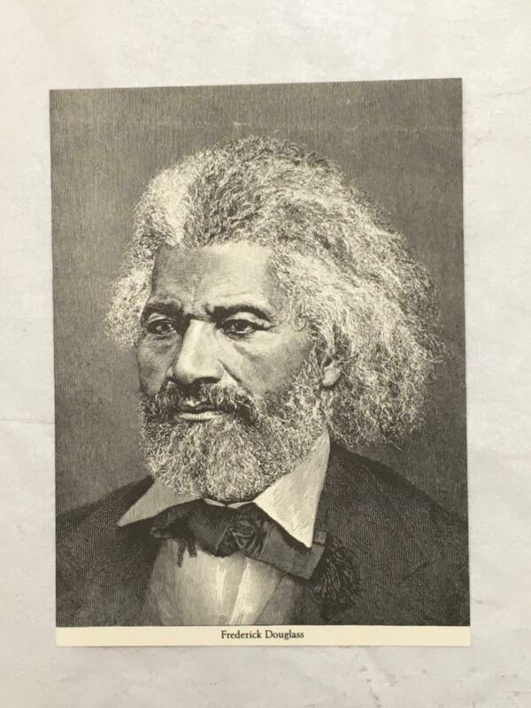 Vintage Unused Postcard FREDERICK DOUGLAS Portrait Handsome Wood Engraving