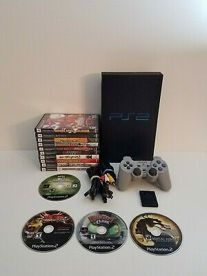 Sony PlayStation 2 PS2 Fat SCPH-50001 Bundle W/ 14 Games & 1 Controller