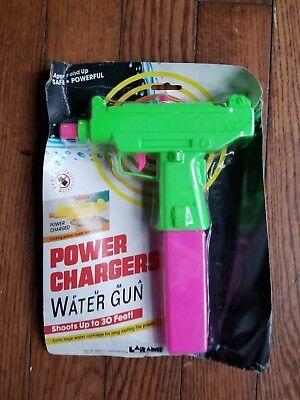 Vintage Larami Water Gun - Uzi Power Chargers MoC 1990 Super Soaker - Safety  ()