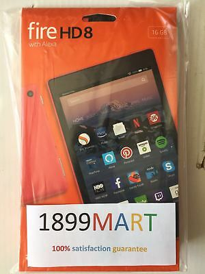 BRAND NEW Amazon Fire HD 8 Tablet 16 GB w/Alexa 7th Gen 2017 Red with offer