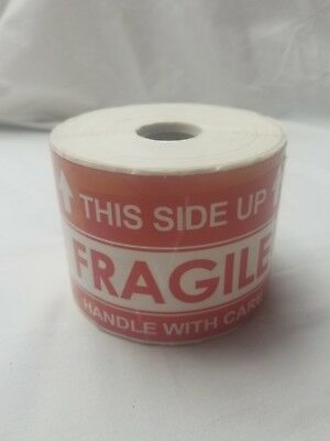 1000 Large 3x5 Handle With Care Thank You Fragile Shipping Labels Stickers