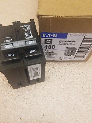 New Circuit Breaker Eaton Cutler Hammer Br2100 100 Amp 2 Pole 120240v