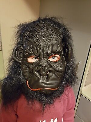 Kid Friendly Adult Costumes (Gorilla costume rubber mask kids to adults friendly version dress up)