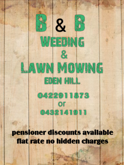 Weeding and mowing