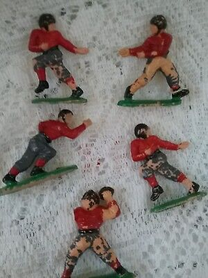 Football Cake Toppers (Vintage Football Players Cake Toppers of 5, Plastic)
