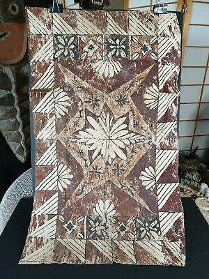 Old New Zealand Polynesian / Tongan / Samoan Hand Beaten hand Painted Tapa (g) …