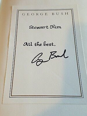 George H W Bush Signed All The Best Book Autographed