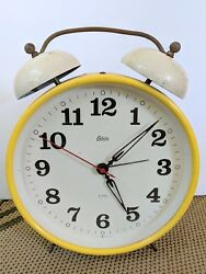 Vintage Large Yellow Alarm Clock Endura Made in West Germany-Not Working